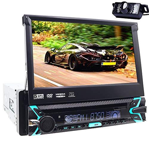 Digitale Bluetooth Media Receiver met GPS Navi, stereo, MP3-speler, AUX-aansluiting, USB, SD-kaartinterface, DVD-speler