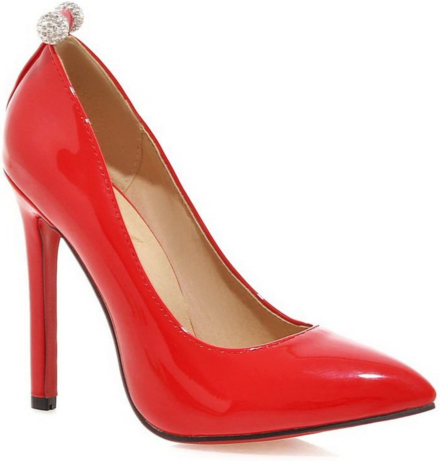 1TO9 Womens Glass Diamond Low-Cut Uppers Pull-On Patent Leather Pumps-shoes