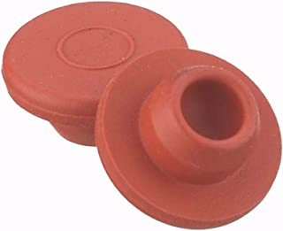 Wheaton Dwk Life Sciences 224100-070 Straight Plug Stoppers, Red Rubber, 7 x 13 mm (Pack of 100), Milliliters, Degree C, Rubber, Natural (Pack of 100)
