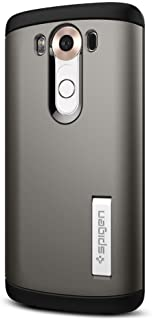 Spigen Slim Armor LG V10 Case with Air Cushion Technology and Hybrid Drop Protection for LG V10 - Gunmetal