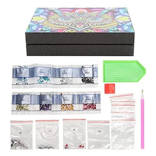 Joyero con pintura de diamantes, decoración del hogar, caja de almacenamiento de pintura de diamantes, kits de bordado, contenedor de almacenamiento de escritorio de bricolaje 5D para
