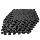 Buluri 12 Pack Puzzle Exercise Mat, Eva Foam Interlocking Tiles,Protective Flooring Mats for Gym Equipment, for Exercising, Yoga, Camping, Kids, Babies, Playroom,12 X 12 inch