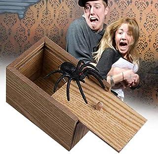 Nai-Style Horrible araña ratón niños de griterío Divertido de la Broma Truco de Madera Broma susto Case Caja de Juguetes para la decoración del Partido del hogar