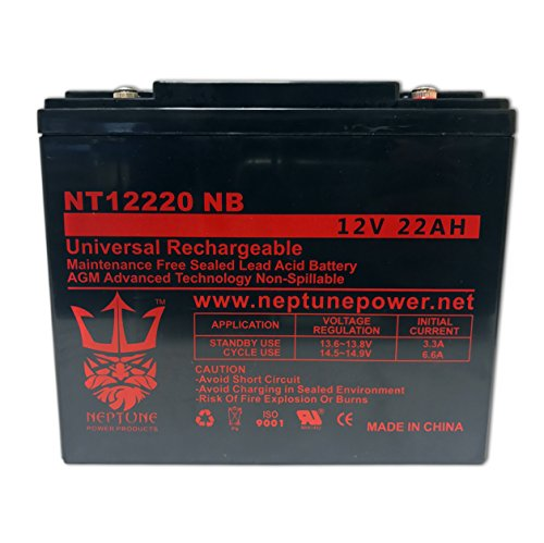 BW12220-IT Sealed AGM 12v 22 ah Battery replaces SCP12220, DMU12-22, CBE22-12, HGL22-12, EV12220, S-12220, SW12200, TR22-12, TP12-21, B20A, RBC39, DMU12-20, CB20-12, 6DZM19, CB22-12, HGL20-12, GS12V20AH, LP12-20, DJW12-20, LPX12-20, PT2012, PT2212, 6DZM20, CP12200
