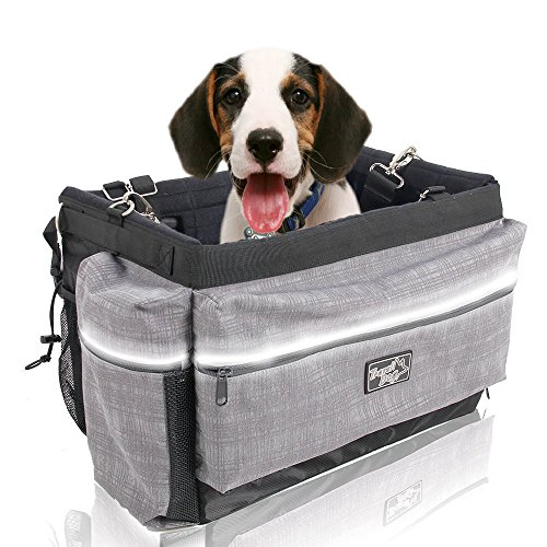 ALL FOR PAWS Delux 2 in 1 Bicycle Basket Carrier Bag with Reflective Stripe...