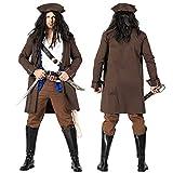 【 本格的 】monoii 海賊 キャプテン 帽子 コスプレ 男性 ハロウィン 衣装 大人 コスチューム メンズ 503