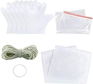 KANGMOON 68 Pieces DIY Tie Dye Kit for Kids Adult Party Group, T-Shirt Fabric Tie-Dye Kits with Plastic Gloves, Rubber Bands, Sealed Bags, Protective Tablecloth and Tools