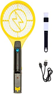 ValueHall Mini Electric Fly Swatter USB Rechargeable Electric Bug Zapper Fly Swatter Mosquito Killer V7078B