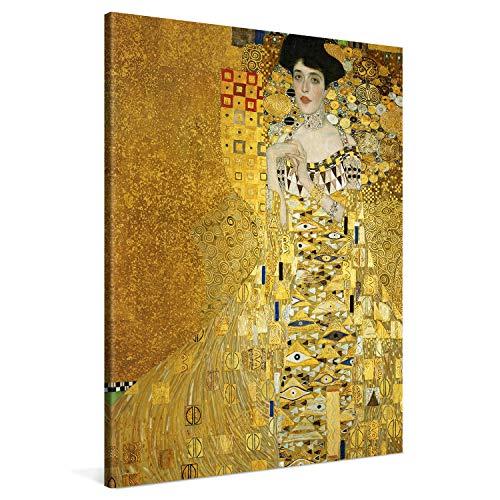 PICANOVA – Portrait of Adele Bloch-Bauer 75x100cm – Premium Leinwanddruck – Kunstdruck Auf 2cm Holz-Keilrahmen Für Schlaf- Und Wohnzimmer – Kollektion Gustav Klimt