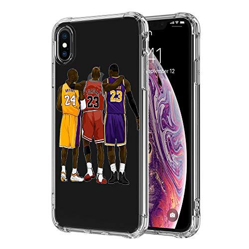 iPhone XR Hülle, Drei Basketball Sterne Klar iPhone XR Hüllen TPU Muster Gemalt Handyhülle Stoßfest Schutzhülle für Apple iPhone XR