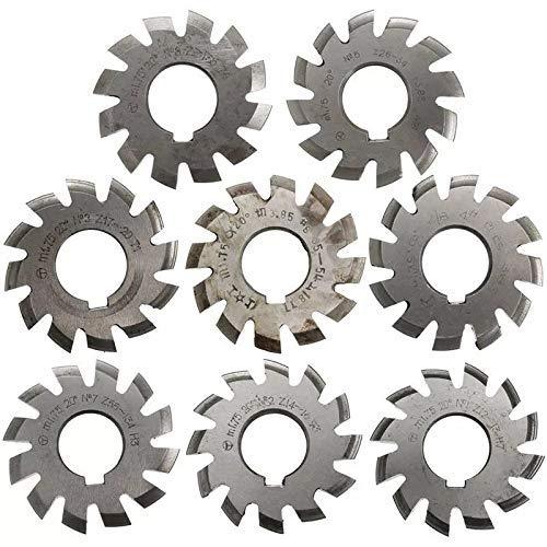 CHUNSHENN Abrasive, 8pcs Module 1.75 PA20 HSS #1-8 Involute Gear Milling Cutter Inside Bore 22mm Abrasive Accessories