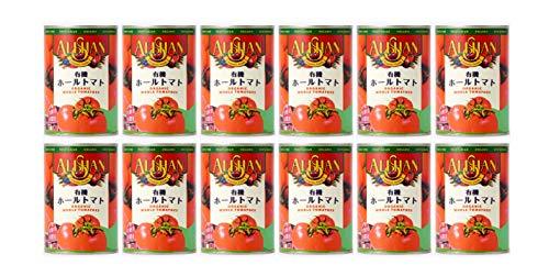 有機 ホールトマト 缶 400g ×12缶 ★ 宅配便 ★ 収穫したての完熟トマトを湯剥きしました。濃厚なトマトの旨味がぎっしりとつまっています。パ スタやピザのトマトソース、野菜の煮込み、ラザニアのソース、グラタンなど、毎日の料理にお使い下さい。
