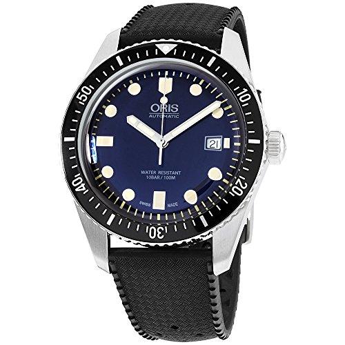 Oris Divers Sixty-Five Mens 42mm Blue Face Black Rubber Strap Automatic Swiss Watch 01 733 7720 4055-07 4 21 18