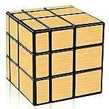 D-FantiX Shengshou Mirror Cube 3x3 Speed Cube Gold Mirror Blocks 3x3x3 Puzzle Toys