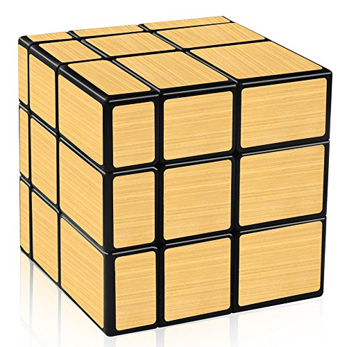 D-FantiX Shengshou Mirror Cube 3x3 Speed Cube Gold Mirror Blocks Puzzle Toys