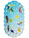 Warrah Mehrzweck-Badeteppich/PVC-Material für Babys, Badewannen-Matte, rutschfeste Matten für Kinder, Sicherheit für Dusche und Badezimmer, Ozean-Muster Coral Fish