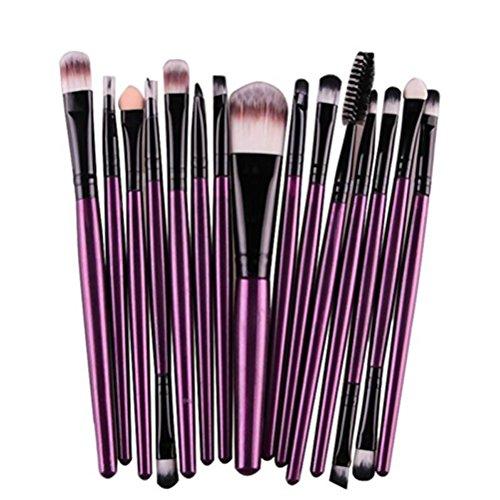 Frcolor Le maquillage portatif professionnel brosse le kit de brosse de sourcil de brosse de base d'outils de cosmétique, paquet de 20