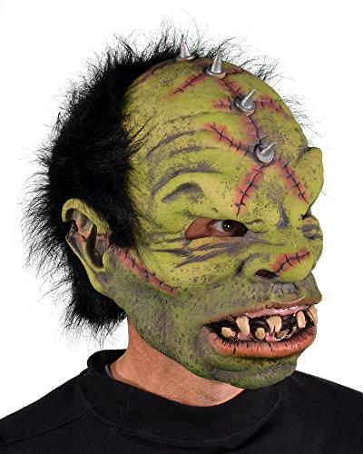 Zagone Studios Originelle Ork Maske aus Latex - Horrormaske perfekt geeignet für Halloween, Karneval oder Mottoparty