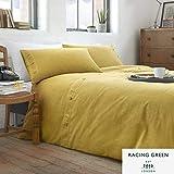 Racing Green Austin - Juego de Funda nórdica y Funda de Almohada (fácil Cuidado), Color Verde, Ochre Yellow, Duvet Cover Set: Single