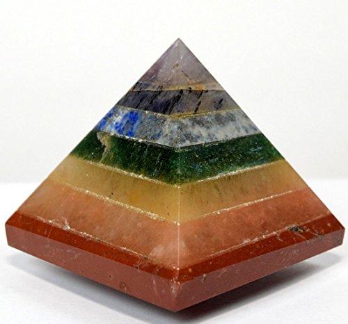 Energisierte Edelstein-Pyramiden ca. 4,4–5,1 cm – Heilende Edelstein-Kristalle – Lapiskristall, Quarz, grüne Jade, Fluroit, Iolith, Pyrit, Aventurin, Amethyst, Turmalin, Citrin (7 Chakra)