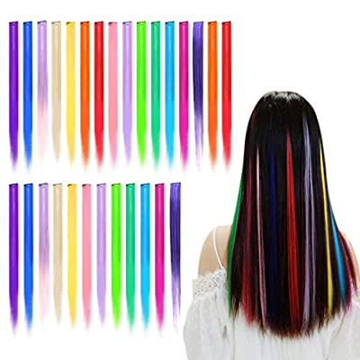 baotongle Farbiger Haarverlängerungs Clip