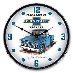 1955 Chevrolet Truck Lighted Vintage Clock - artist Rudy Edwards