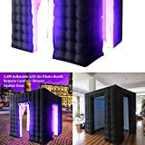 2.8x2.8x2.8m Double Door Cubic Inflatable LED Light Photo Booth Air Tent + Built-in Fan Portable Remote Control,DIY Selfie Photo Booth Tent Enclosure for Wedding Party Birthday Christmas 110V 500W