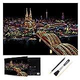 H HOMEWINS Kratzbilder 405 x 285 MM Weltberühmte Sehenswürdigkeiten Wandbild