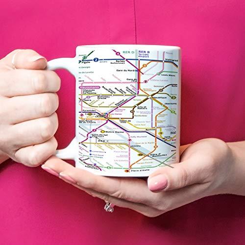 White Paris Metro Map Coffee Mug