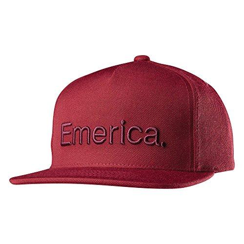 Emerica - Berretto Unisex Pure Snapback, Unisex - Adulto, Cappucci, 6140001008-602, Bordeaux, Taglia Unica