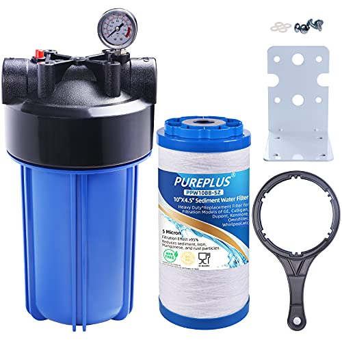 PUREPLUS Whole House Water Filtration System with Iron...