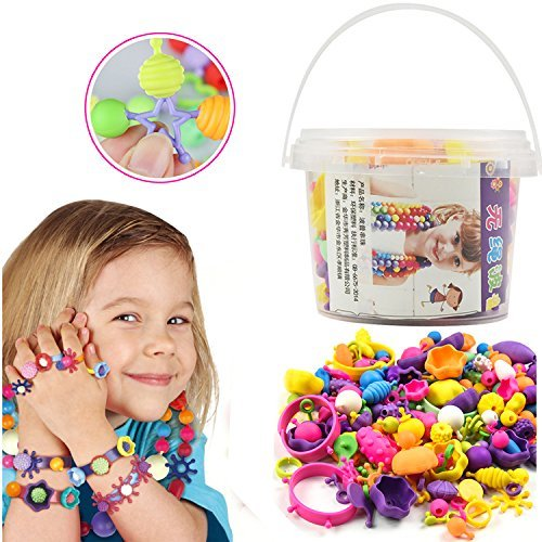 ShengTangGC Pop Beads Snap Lock Beads - DIY Jewelry Making Kit for Necklace and Bracelet for Kids Girls Art Crafts Gift Toy (165 Pieces)