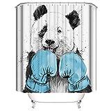 A&S Creavention Bathroom Custom Design Shower Curtain 70' x 70' Standard Size, 1pc (Boxing Panda)