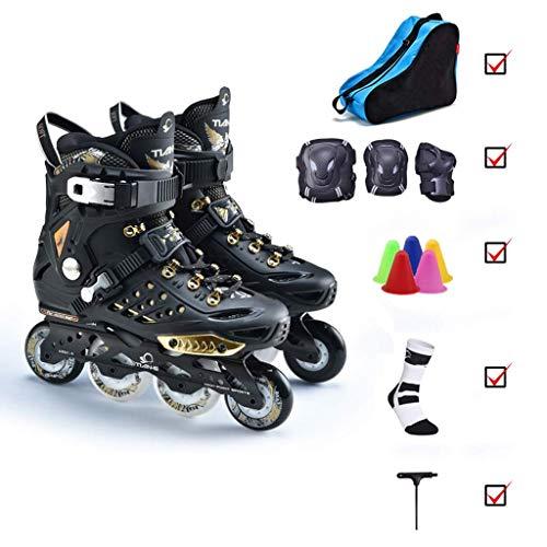 Taoke Adult Inline Skates, Herren Inline Skates, Skating-Schuhe, Frauen-Anfänger Wohnung Blumen-Schuhe (Farbe: # 1, Größe: EU 42 / US 9 / UK 8 / JP 26cm) dongdong