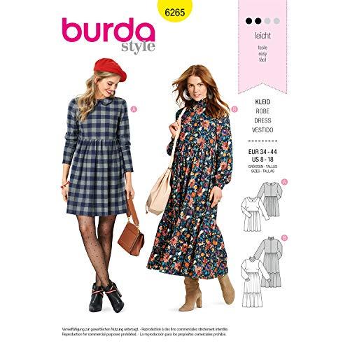 Burda Schnittmuster 6265, Kleider [Damen 34-44] zum selber nähen, ideal für Anfänger [L2]