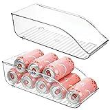 mDesign Juego de 2 cajas de almacenaje para frigorífico y