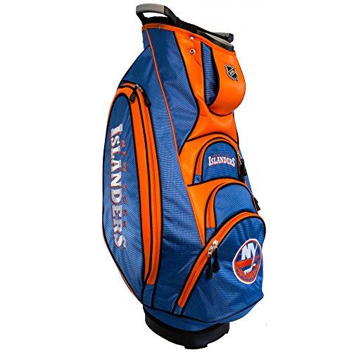Team Golf NHL New York Islanders Victory Golf Cart Bag, 10-way Top with Integrated Dual Handle & External Putter Well, Cooler Pocket, Padded Strap, Umbrella Holder & Removable Rain Hood