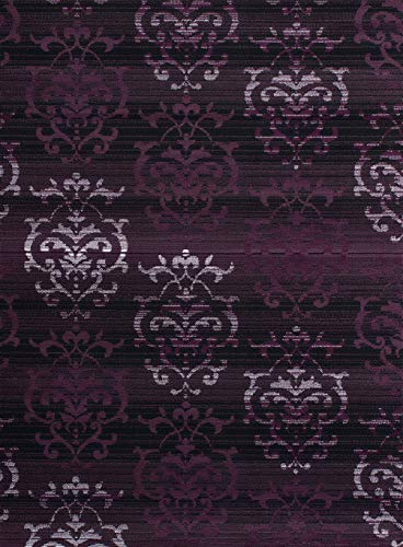United Weavers of America Dallas Countess Rug - 5ft. 3n. X 7ft. 2in., Plum, Area Rug with Abstract Pattern, Jute Backing, Model: