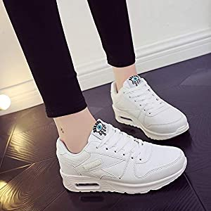 Homebaby Scarpe Zeppe Donna Sneakers Eleganti,Ragazze Casual Vintage Soft Leather Corsa Camminata Calcetto Scarpette…