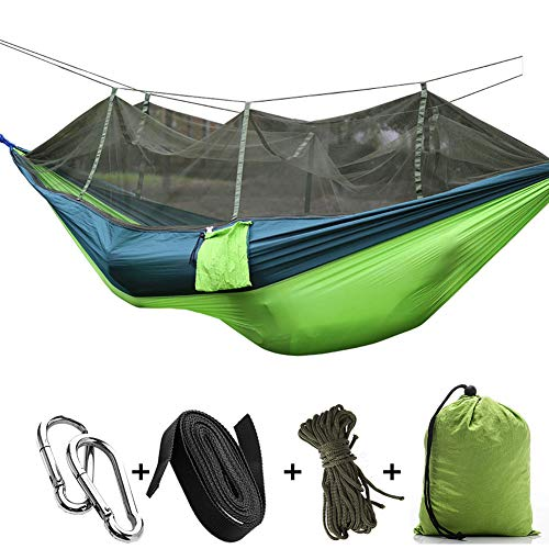 CapsA Camping Hammock Portable Indoor Outdoor Tree Hammock Hanging Straps Lightweight Easy Assembly...