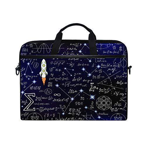HaJie, borsa per computer portatile educativa, matematica, modello per computer, 35,6-36,8 cm, con tracolla per uomini, donne, ragazzi e ragazze