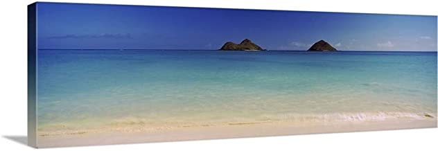 Islands in The Pacific Ocean, Lanikai Beach, Mokulua Islands, Oahu, Hawaii Canvas Wall Art Prin.