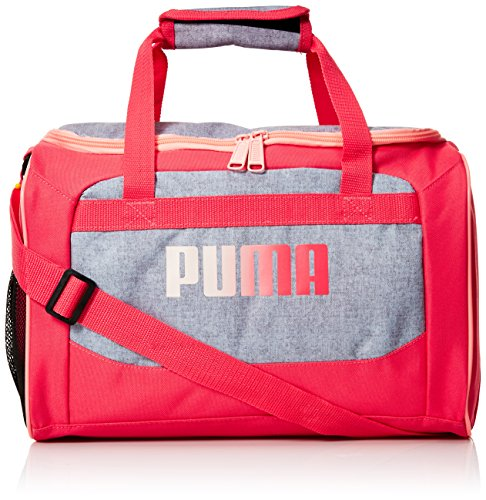PUMA Girls' Big Evercat Transformation JR Duffel, grey/pink, OS