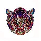 MYSY Rompecabezas de Madera, Piezas de Rompecabezas de Forma única, Adultos y niños (Tiger, S)