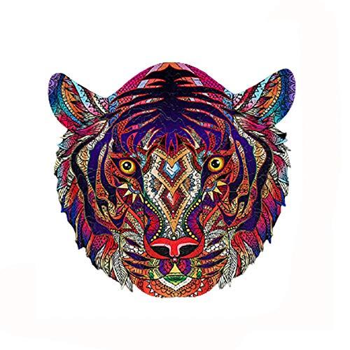 Rompecabezas de Madera, Piezas de Rompecabezas de Forma única, Adultos y niños (Tiger, S)