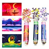 Small Jigsaw Puzzles for Adults Mini Puzzles Challenging Difficult Puzzles Forest Deer Lakeside Moon Starry Night 150 Pieces Tiny Puzzles Home Decor Entertainment 6 x 4 Inches, 3 Pack