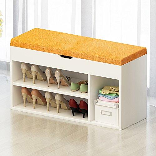 LJHA Tabouret pliable Repose-pieds de bois solide / tabouret de chaussure de porte de tissu / armoire de chaussure / stockage tabouret / support de chaussure (7 couleurs facultatives) chaise patchwork ( Couleur : B , taille : 80cm )
