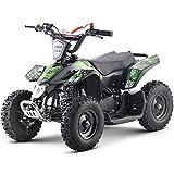Superrio Kids ATV Sahara 40cc Gas Powered Kids ATV Kids 4 Wheelers Kids Quads, Speed Limiter and Kill Switch (Green)