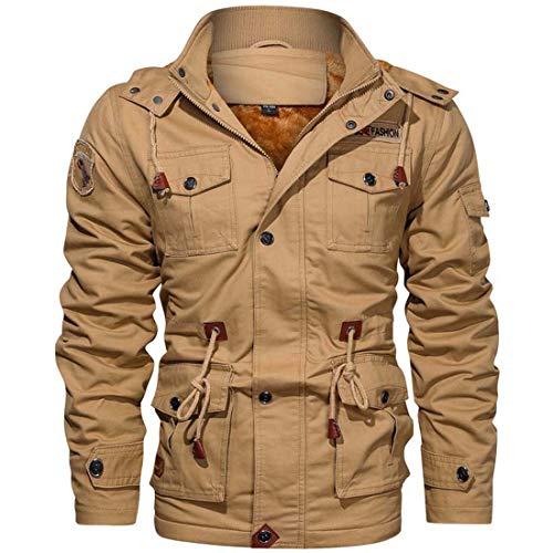 Yuyudou Mens Air Force Jack, Military Jack, Slim Fit Katoen Cargo Jack, Casual Warm Rits Jas Blazer Bovenkleding met Multi Pockets