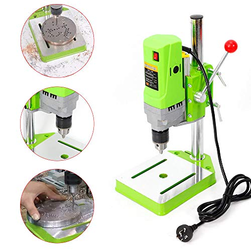 Review Of Mini Bench Drill Stand, 710W Portable Electric Bench Drill Press Table Workbench Drilling ...